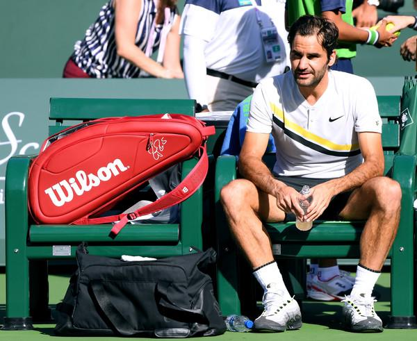 RogerFedererBNPParibasOpenDay14HzXBEx R q4l - Federer dal vse od sebe, a tokrat ostal praznih rok