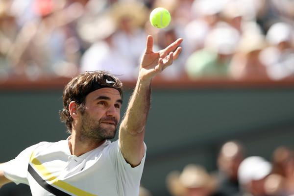 """RogerFedererBNPParibasOpenDay14nNqCpqAImrEl - """"Hej, Roger, so teniške žogice zelene ali rumene?"""""""