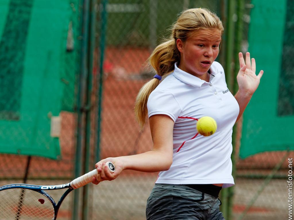 Veronika Erjavec v 1. krogu ni oddala niti igre. (Foto: tennisfoto.net)