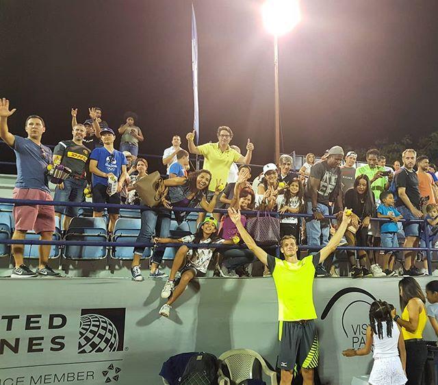 Blaž Rola je imel v Panami bučno podporo s tribun. (Foto: visitpanamatenniscup.com)
