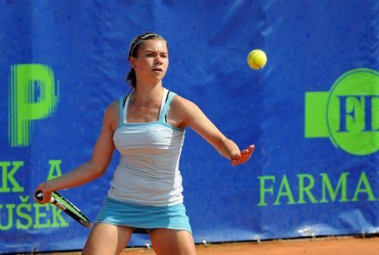Pia Čuk kot kvalifikantka že v četrtfinalu turnirja v Tuniziji. (Foto: images.google)