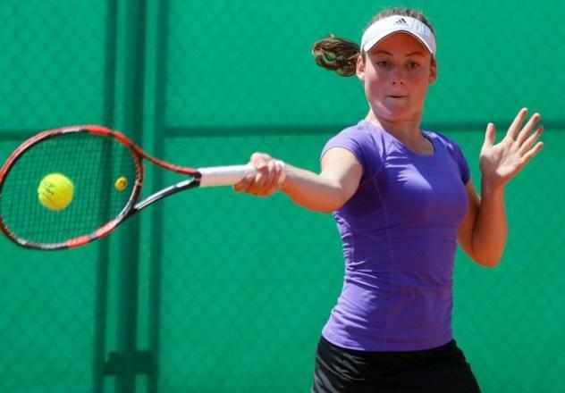 Tamara Zidanšek tudi ta teden do polfinala po rešeni žogici za zmago. (foto: Facebook)