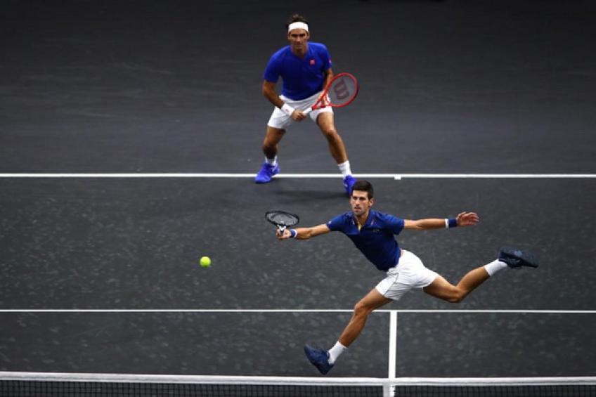 laver cup roger federer and novak djokovic lose historic doubles match - Laverjev pokal: Team World do prve točke