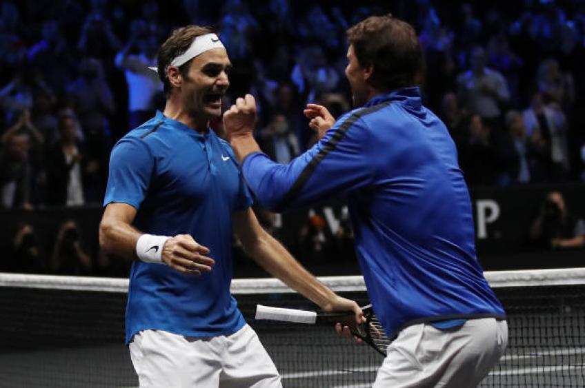 """roger federer recalls 2017 laver cup rafael nadal was yapping in my ear  - Federer: """"Nadal mi je nenehno čvekal v uho"""""""