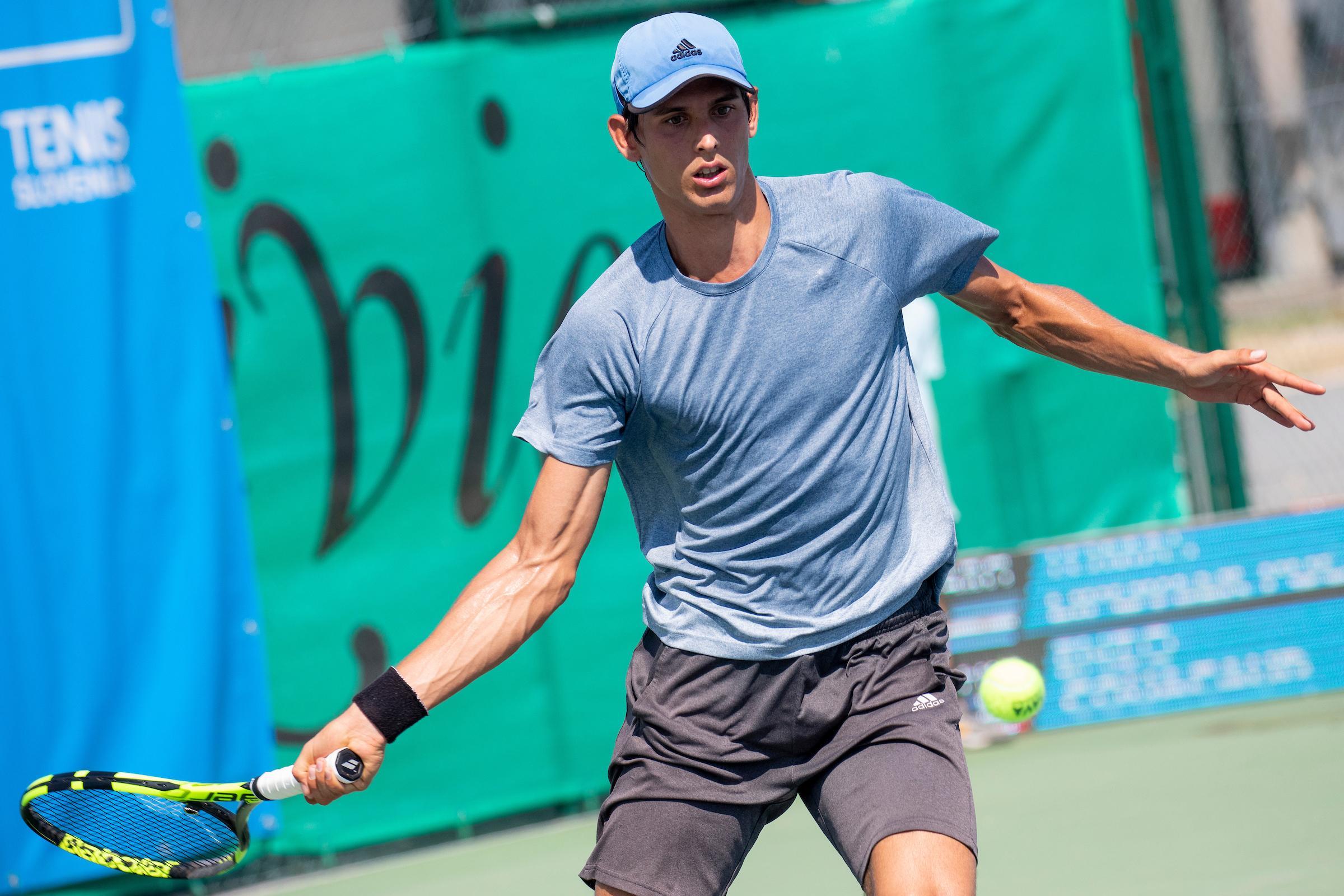 ATP Portoroz Tomas Lipovsek Puches - ITF: Britanka v četrtfinalu ustavila nalet Radišićeve, soigralec Lipovška Puchesa predal finale