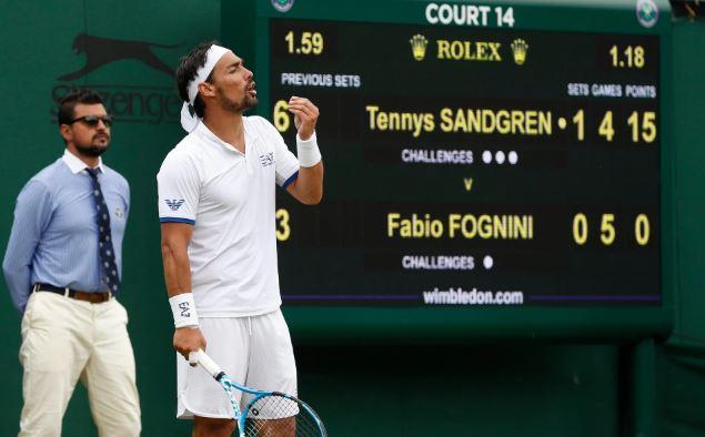 65474 - Fognini jezo stresel nad Wimbledonsko igrišče