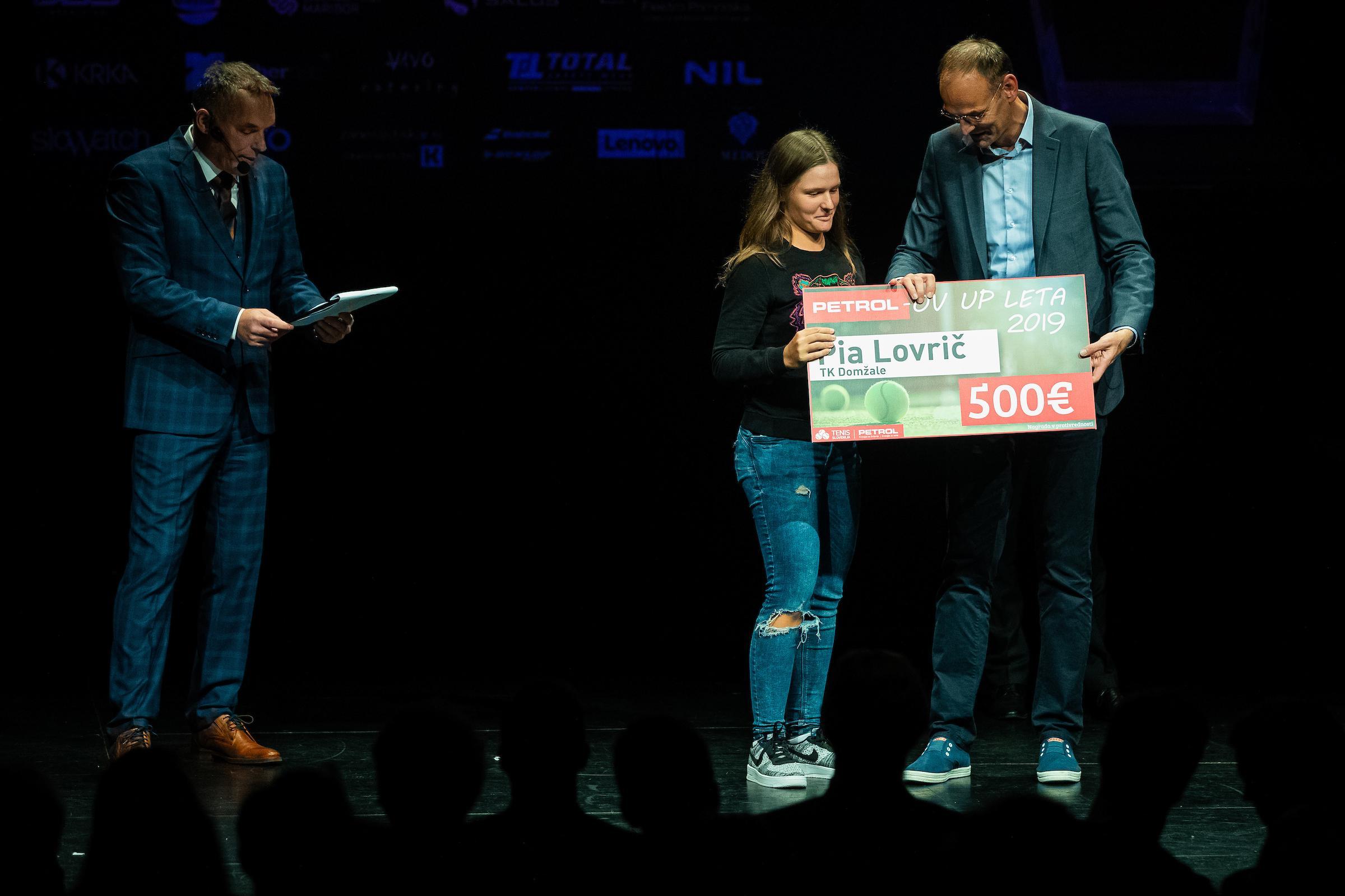 Pia Lovrič Aleksander Salkič Petrolov up leta 2019 - Zaključna prireditev Tenis Slovenije