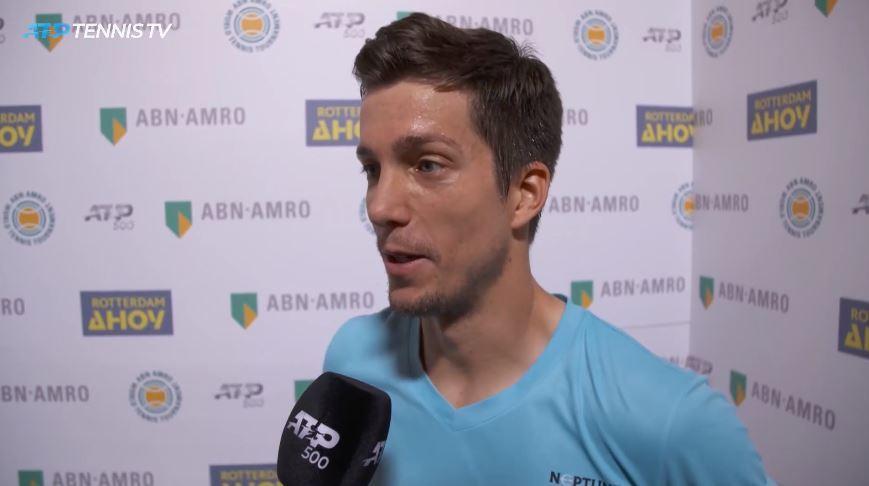 Aljaž Bedene je bil po zmagi upravičeno zadovoljen. (Foto: ATP Tennis TV)
