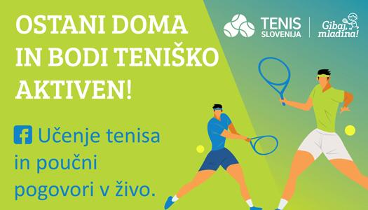 Ostani doma slider bener 525x300 - V projektu Teniško aktivni! smo gostili Tamaro Zidanšek | Tenis Slovenija