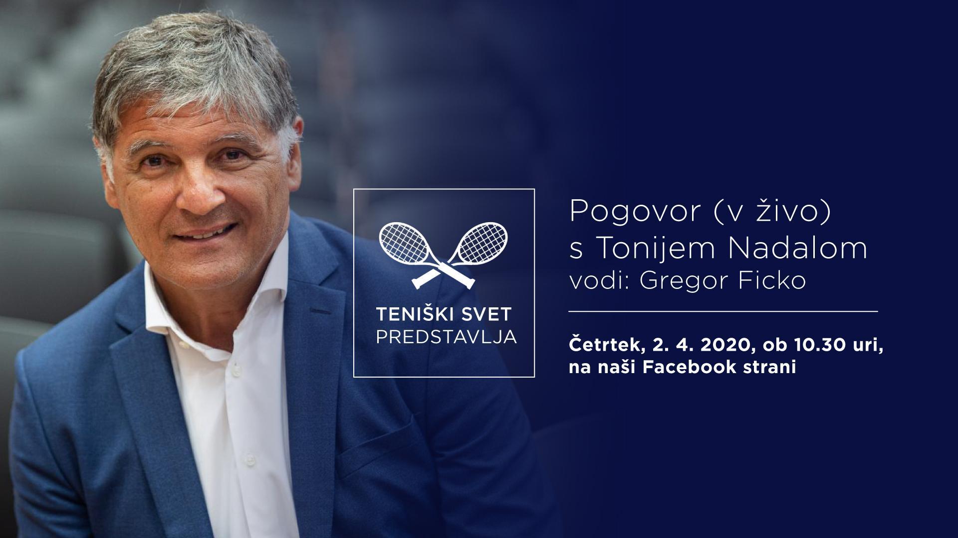 tenisk svet FB EVENT COVER 1 - PREDSTAVLJAMO: Vabljeni k pogovoru v živo s Tonijem Nadalom!