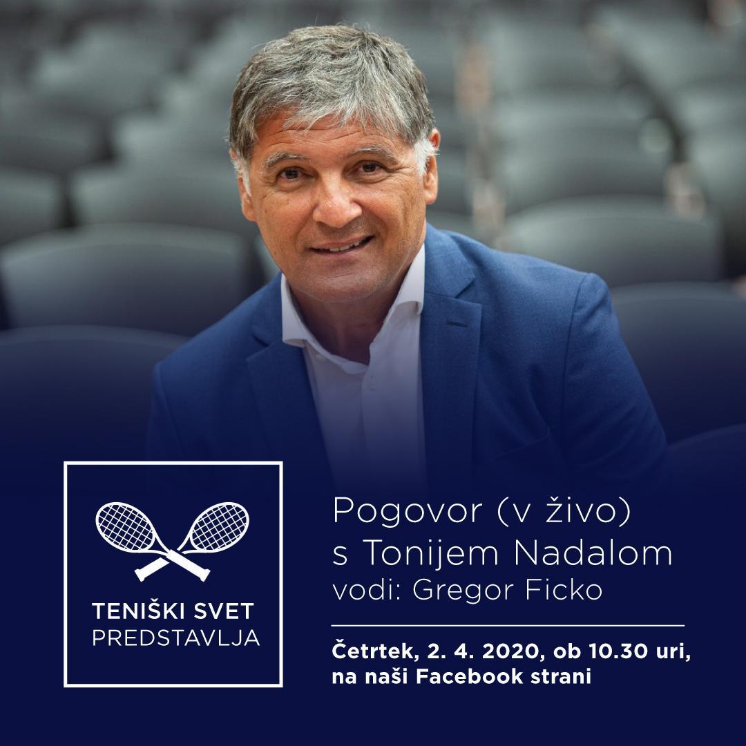 tenisk svet FB in IG post 2 - PREDSTAVLJAMO: Vabljeni k pogovoru v živo s Tonijem Nadalom!