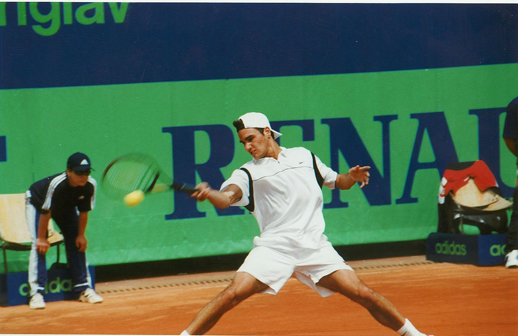 FedererRoger SloveniaOpen1999 - 30 let po prvem teniškem turnirju v Domžalah