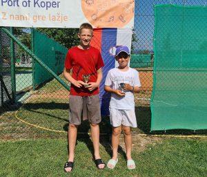 koper 12 300x256 - DP B (U12): Lun Jarc prvak v dveh kategorijah, pri deklicah blestela Sofija Malić (FOTO)