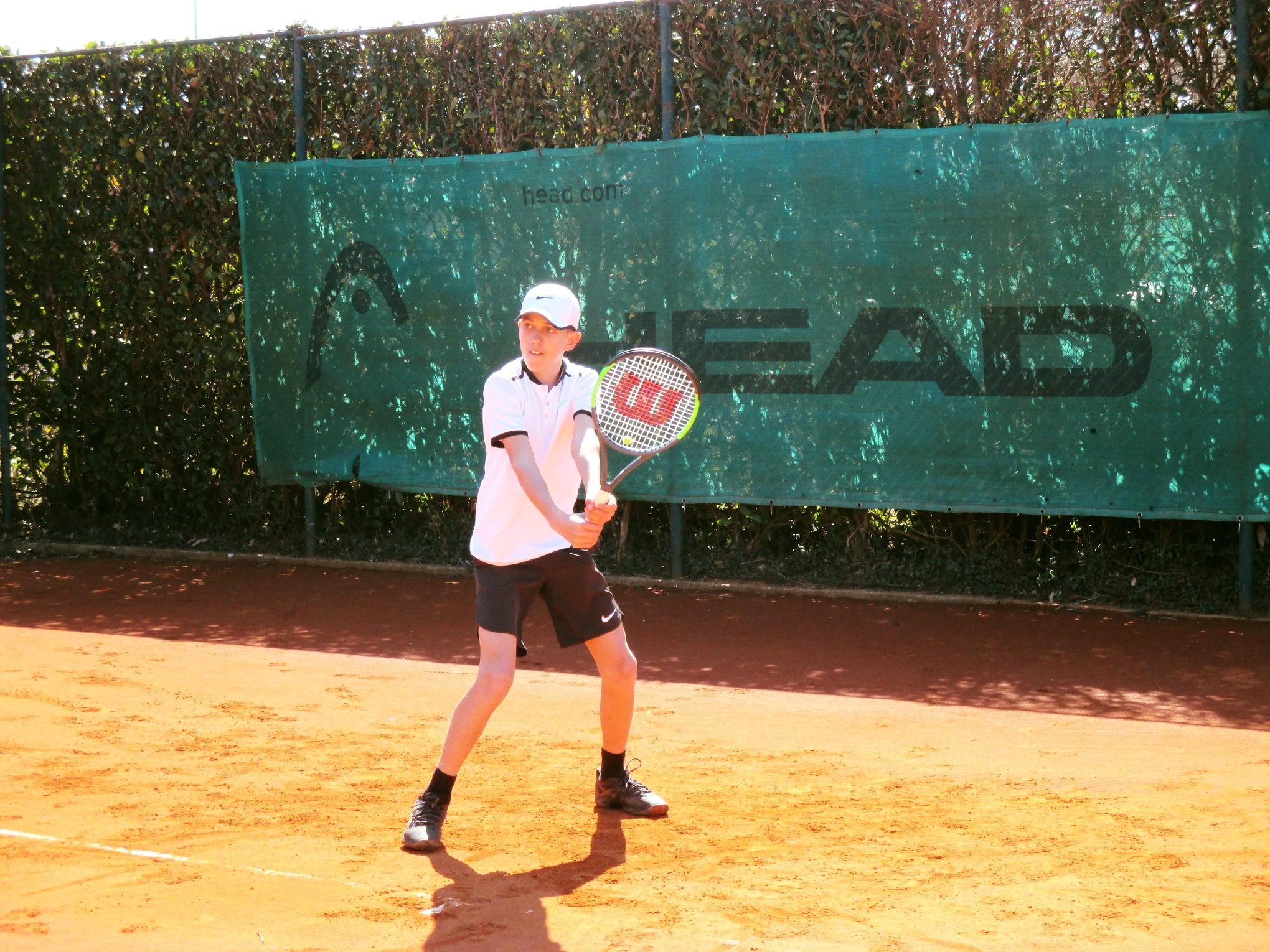 Luka Videnovič bo v nedeljo izzval 1. nosilca turnirja Joba Japlja. (Foto: TK Triglav Kranj)