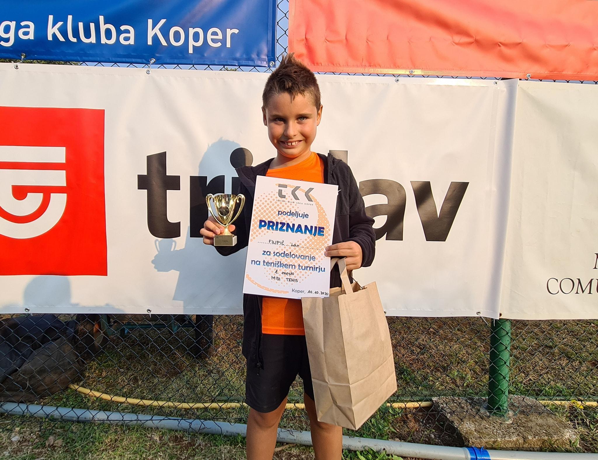 Lan Filipic - Na Mastersu Luka Koper Open 8-11 let je slavil Lan Filipič