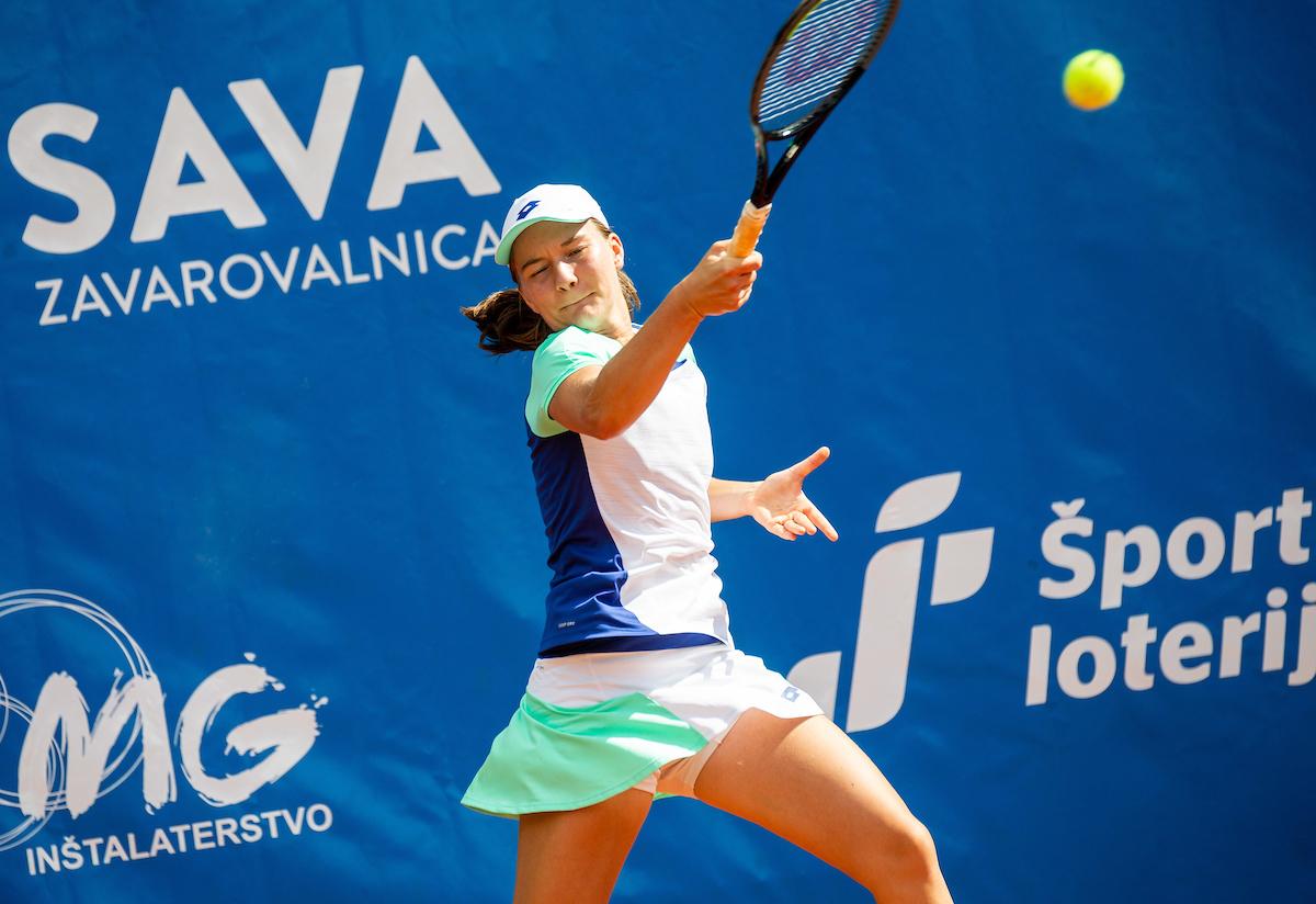 Falkner Ziva fh3 - ITF: Falknerjeva po zmagi nad Pislakovo med najboljših 8, Radišićeva v dvojicah polfinalistka ITF W60 turnirja v Zagrebu