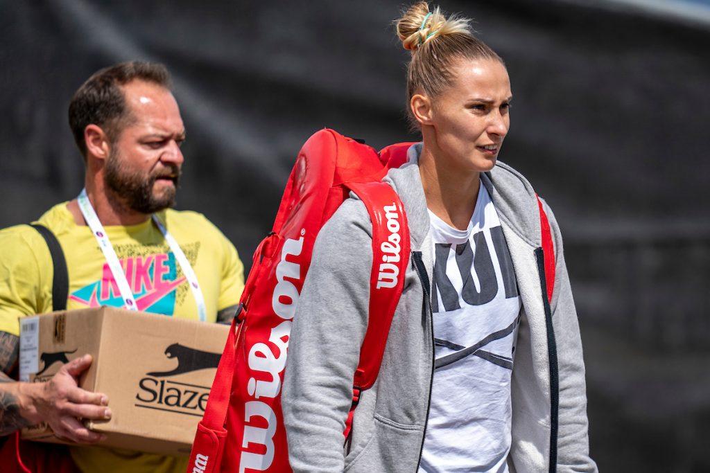 Hercog Polona trener pred tekmo 1024x683 - Srečna poraženka Polona Hercog bo imela v Madridu še eno priložnost