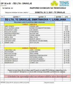 B 256x300 - U16: Barjaktarević in Žnuderlova prva nosilca turnirjev v Ljubljani in Krškem