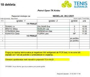 nedelja 300x258 - U18: Mumlekova v Krškem nadigrala 2. nosilko, presenečenje Mikovića v Medvodah