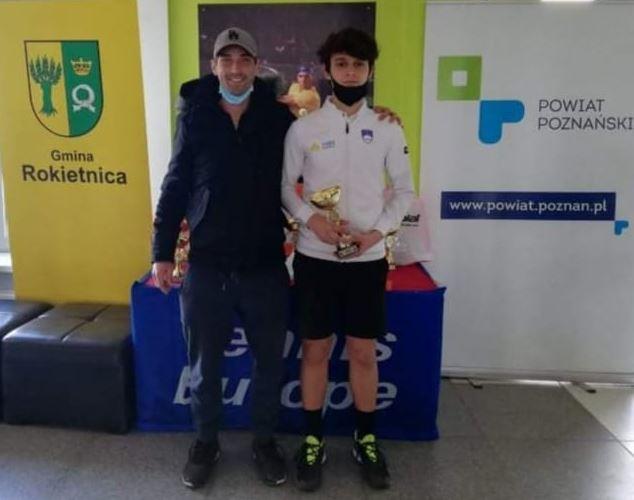 paol1 - Tennis Europe: Paolo Angeli v Soboti z Madžarom pokoril vso konkurenco