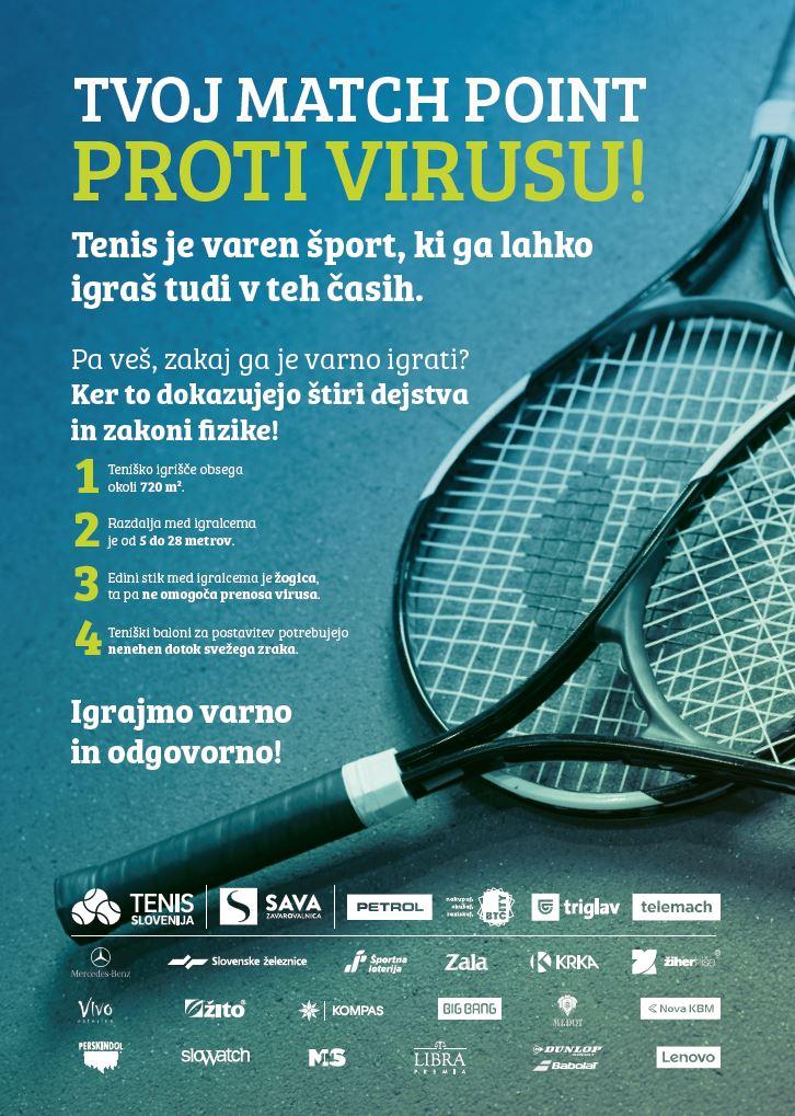 tenis je varen - Tenis uvrščamo med varne športne panoge   Tenis Slovenija