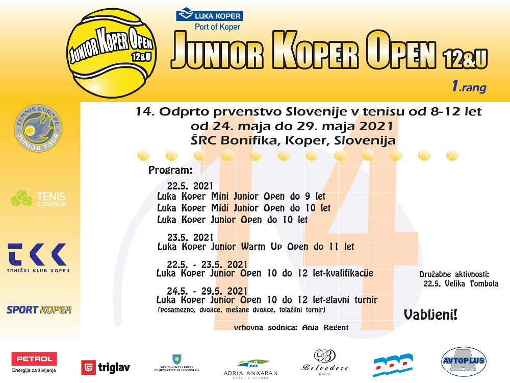 Koper1 2 - Bliža se že 14. Luka Koper Junior Open 8-11 let