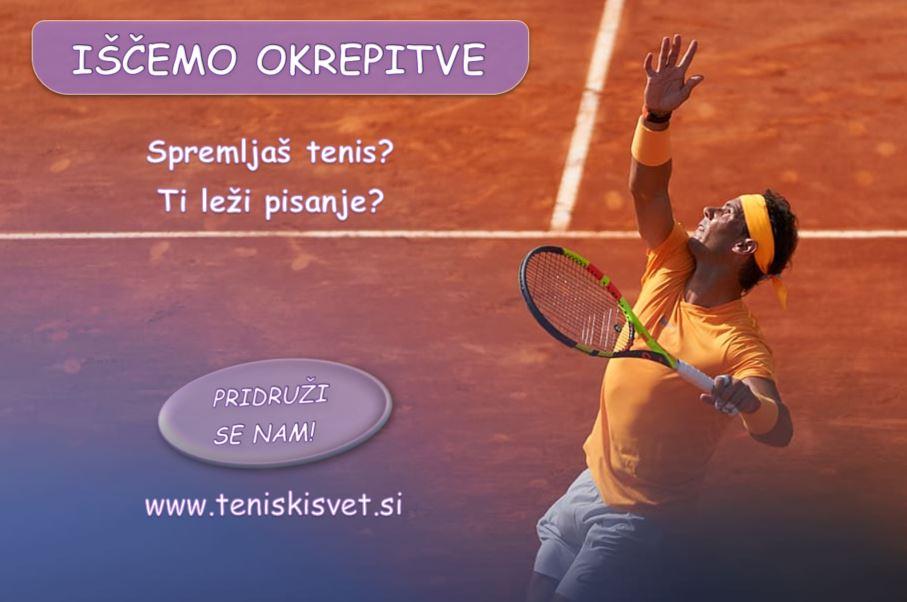 Teniski svet isce okrepitve - [POSTANI DEL NAŠE EKIPE] Teniški svet išče okrepitve!