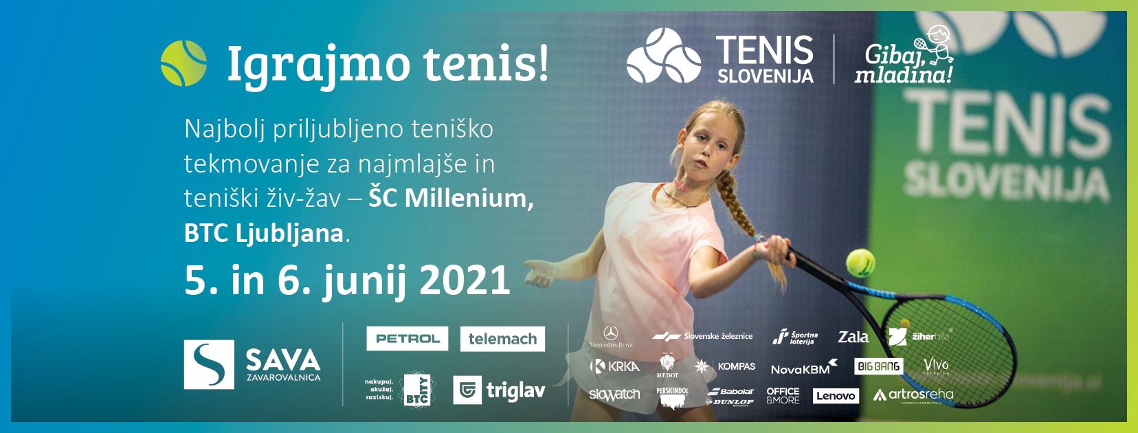 igrajmo tenis - Pridružite se nam na najbolj priljubljenemu teniškemu tekmovanju za najmlajše in teniškemu živ-žavu