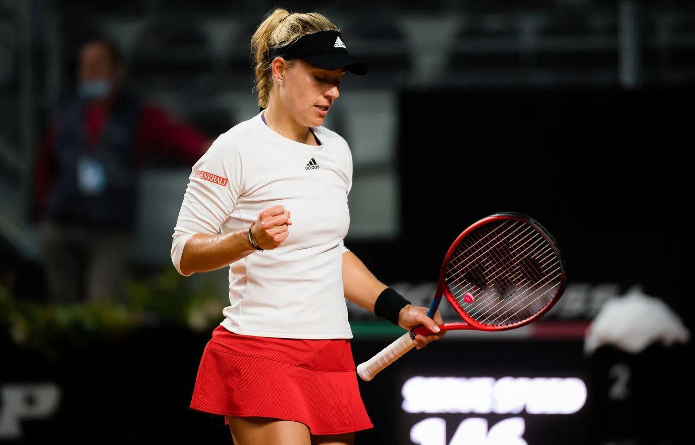 kerber - WTA Rim: Kerberjeva, Ostapenkova in Tomljanovićeva vse do zmage po deževni prekinitvi