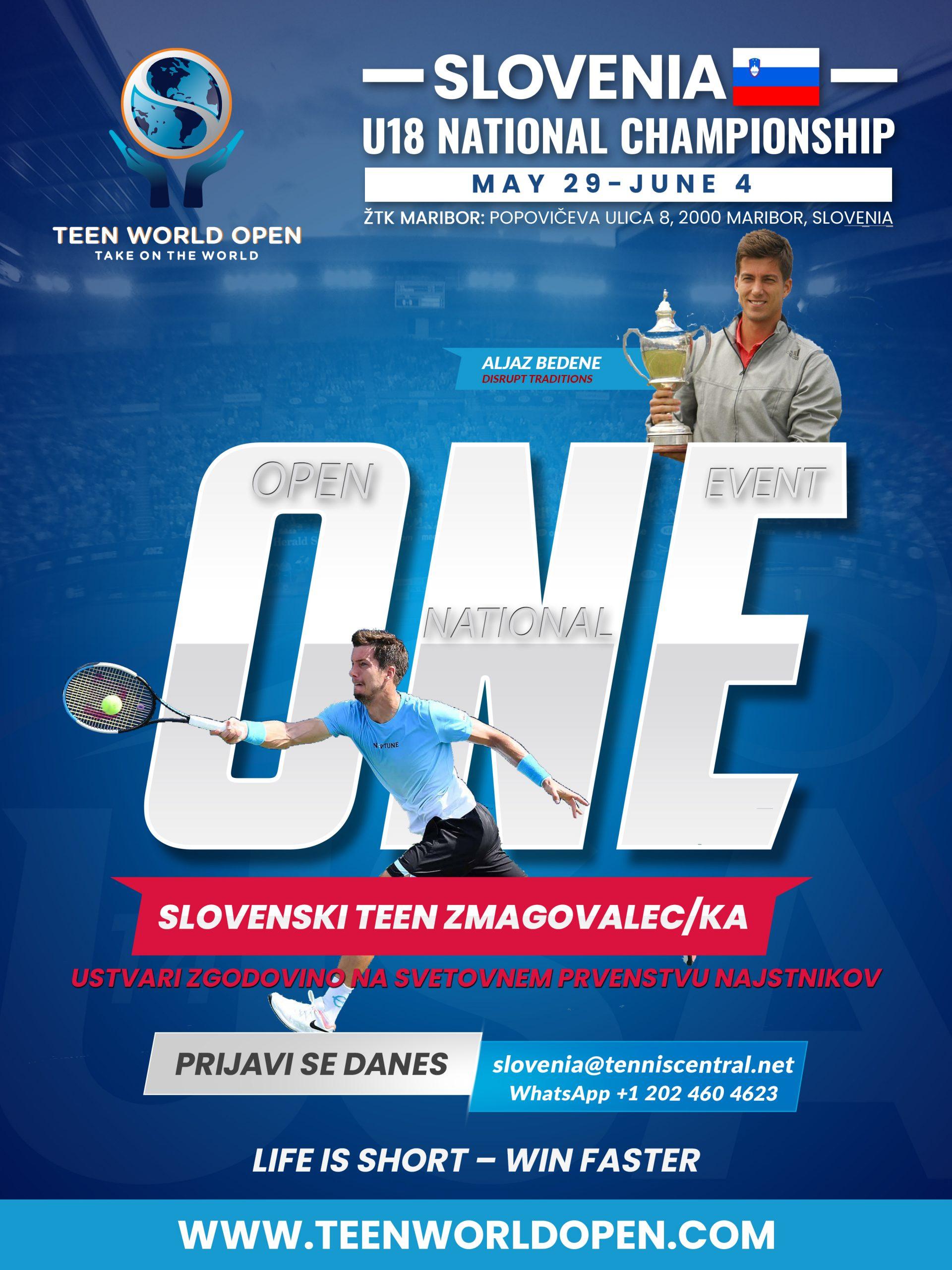teen world open Slovenia slo scaled - Državna prvaka do 18 let vabljena na brezplačno udeležbo - UTR Teen World Open v ZDA