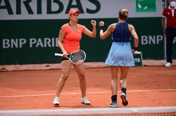 KlepacJurak - Dvojica Jurak/Klepač obstala v četrtfinalu; o uspešnem Rolandu Garrosu spregovoril tudi trener Slovenke