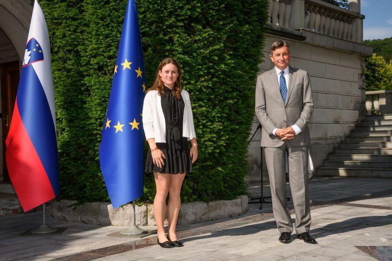 Pahor Zidansek 1 - Predsednik republike priredil sprejem za teniško igralko Tamaro Zidanšek