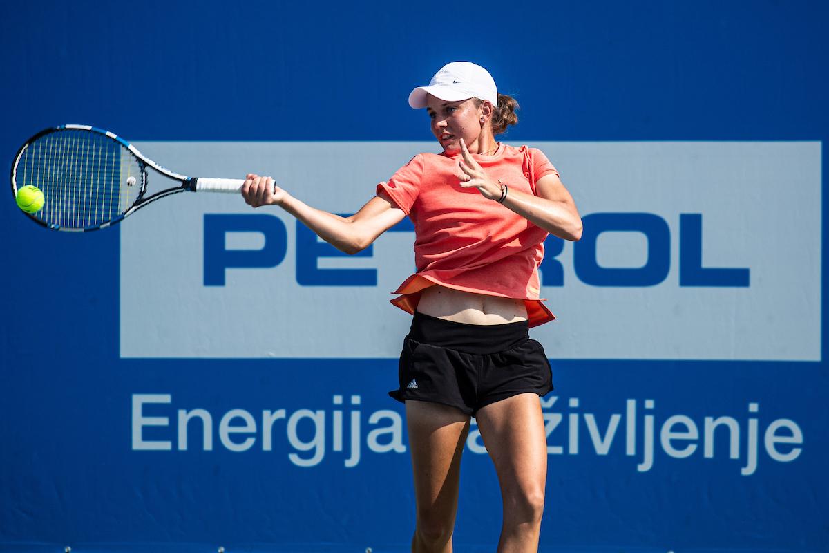 Tenis ATP Portoroz2019 day2 0233 190810 GV - DP člani/ce: Planinšek boljši od Dominka, Benedejčičeva izločila Brglezovo