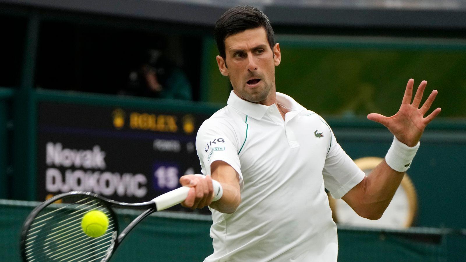 skysports novak djokovic tennis 5430287 - Wimbledon: Đoković že preskočil prvo oviro; dvoboje prekinil dež