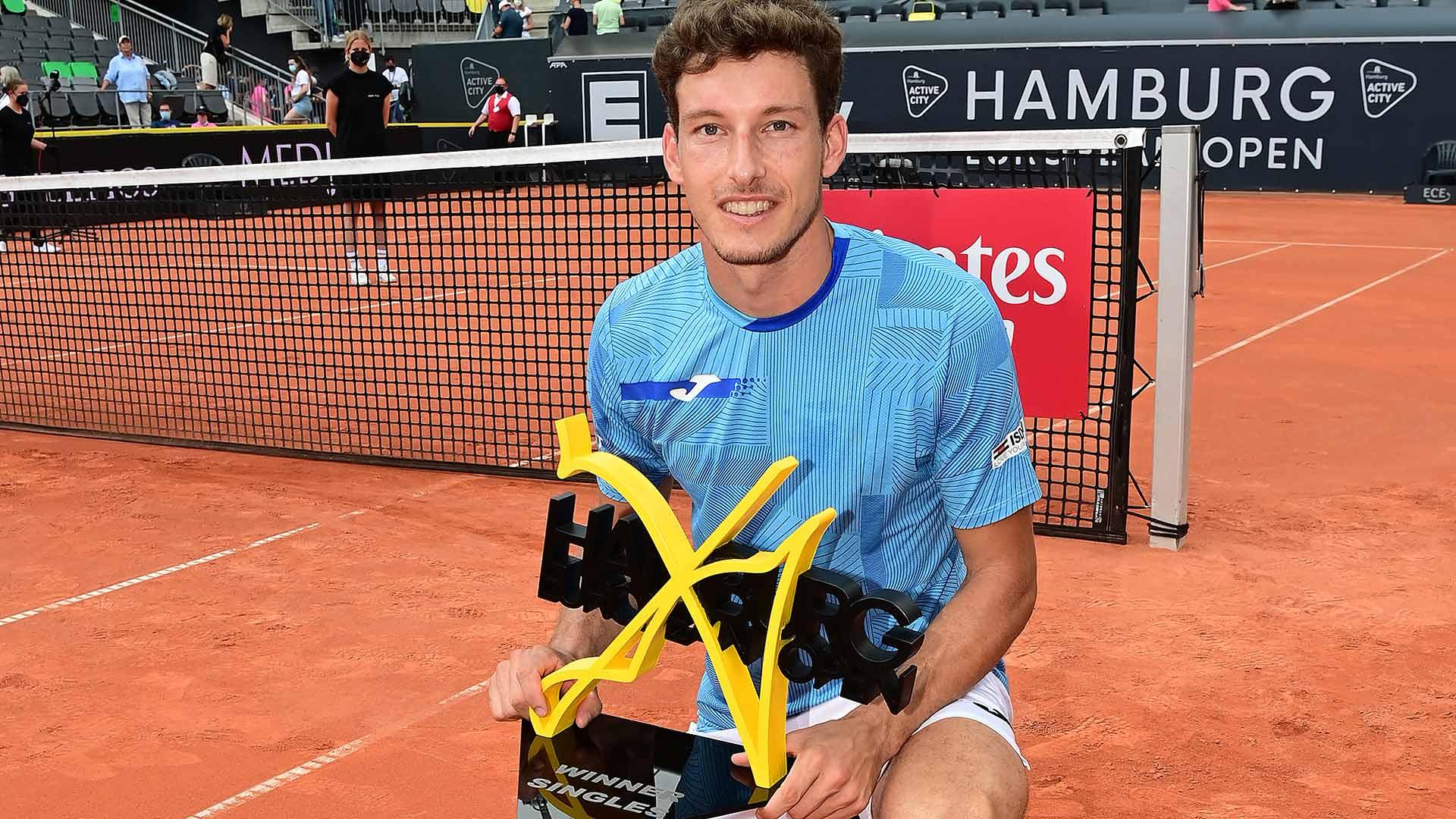 carreno busta hamburg 2021 trophy - ATP Hamburg: Šesta turnirska zmaga za Španca