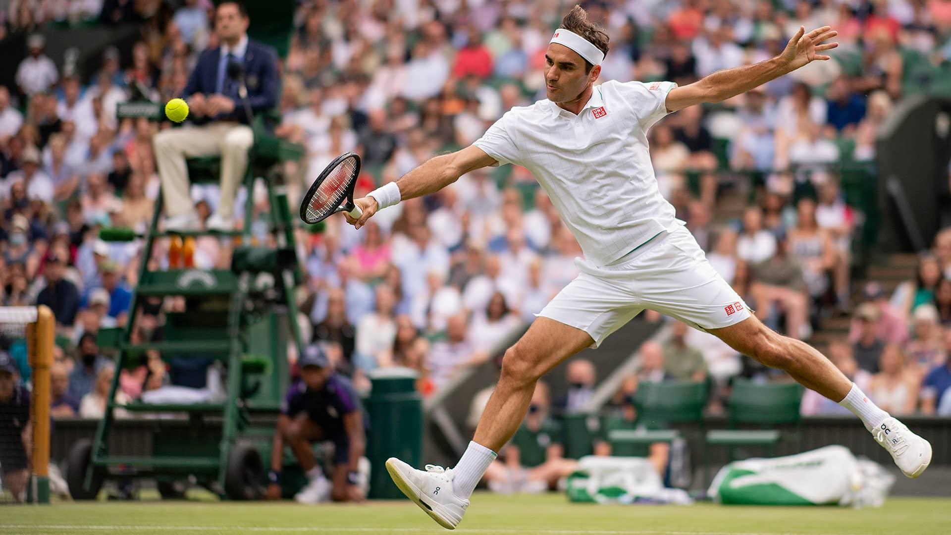 federer wimbledon 2021 thursday2 - Wimbledon: Napredoval Federer, najstarejši igralec v zadnjih 46 letih v tretjem krogu