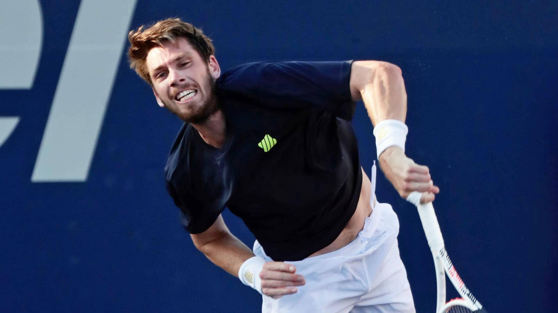 norrie los cabos 2021 wednesday serve - ATP Los Cabos: Norrie gladko odpravil Američana Fritza