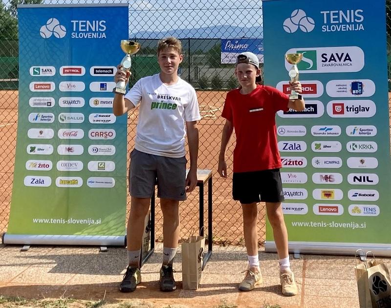 u16 - U16: Mrvarjeva najboljša v Krškem, Bajželj v Kranju v finalu odpravil Stolleckerja