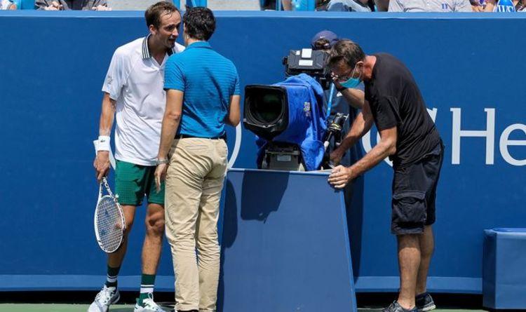 1480106 - ATP Cincinnati: Medvedev udaril ob kamero, prvič izgubil proti Rublevu