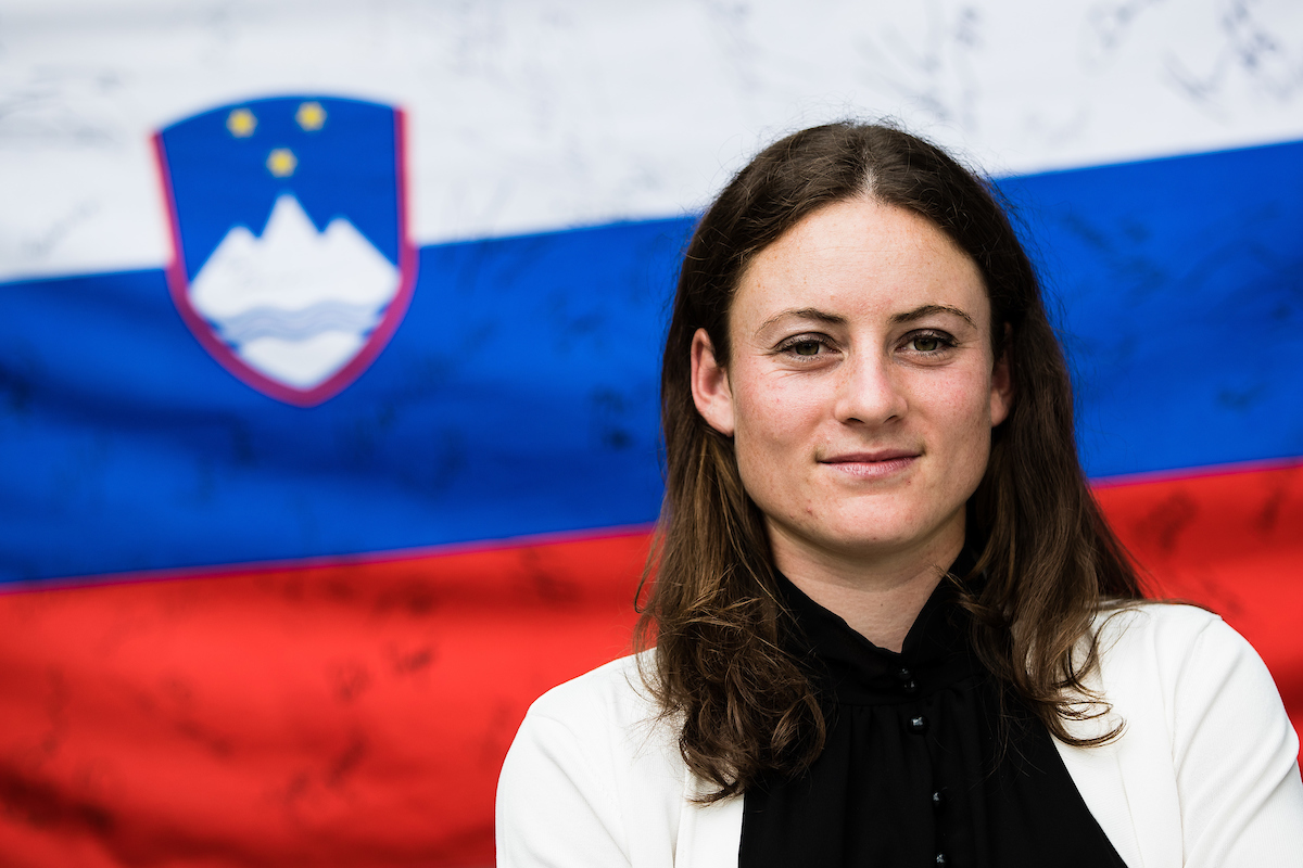 Sprejem Tamara Zidansek 0801 210611 GV - Na OP ZDA sanjski začetek za Slovenijo: Po Juvanovi do zmage še Zidanškova