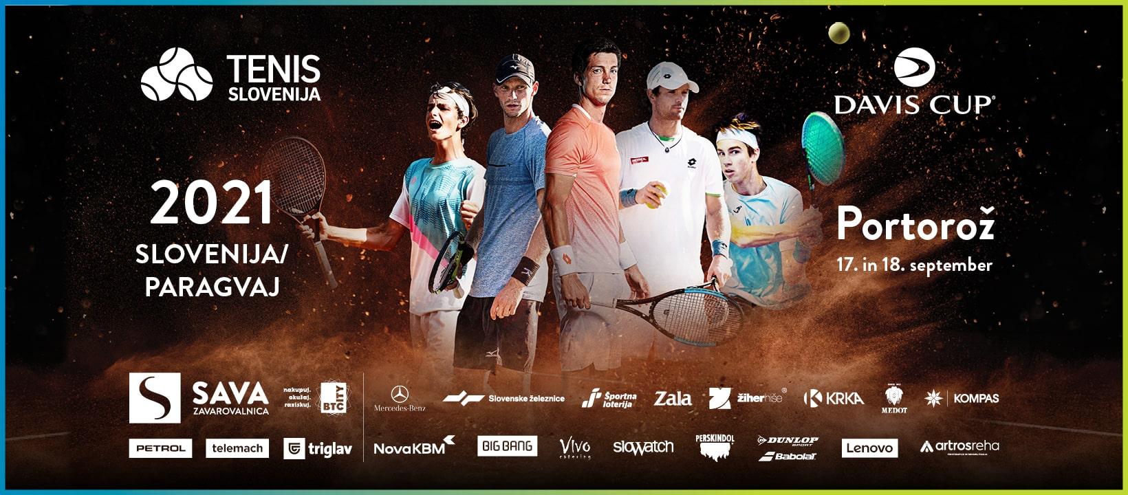 TS Davis Cup FB Cover 1640x720px min - DAVISOV POKAL: Klicu selektorja Žemlje so se odzvali vsi najboljši, nasprotnik v Portorožu Paragvaj