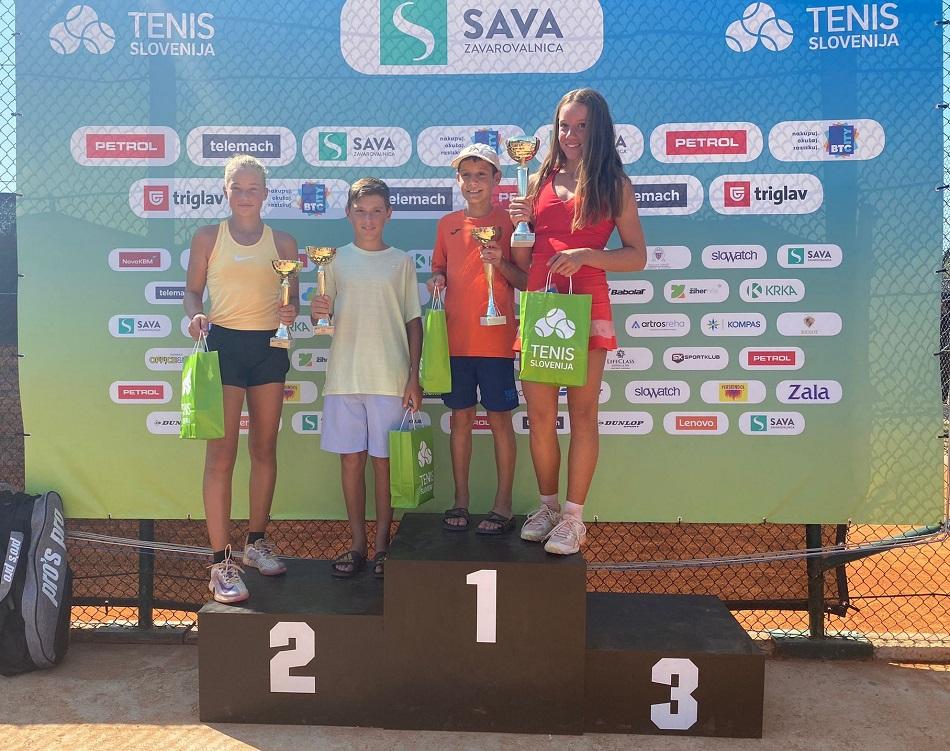 WhatsApp Image 2021 08 21 at 12.00.37 - Tenis Fest (U14): Matijašič prepričljivo najboljši, Najzerjeva do naslova po preobratu (FOTO)