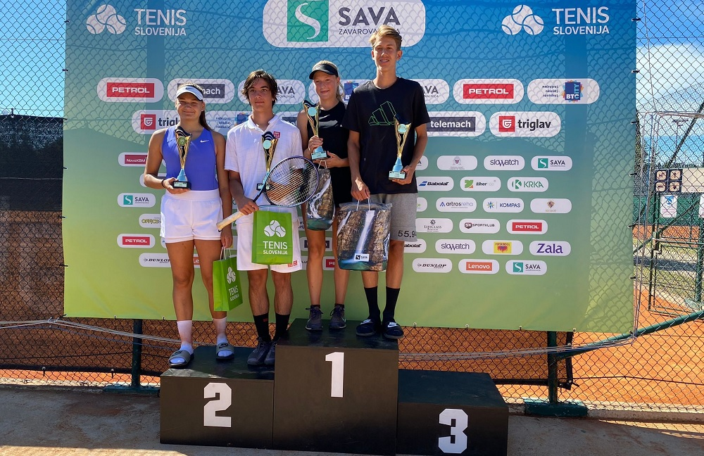 u18 - Tenis Fest (U18): V Portorožu z dvojnim naslovom zavladala Luka Videnović in Nika Završki (FOTO)