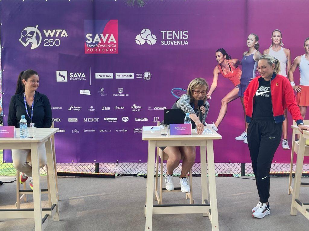Anja Vreg Martina Lutkova Donna Vekić 1024x768 - V Portorožu je bil opravljen žreb za turnir WTA Zavarovalnica Sava