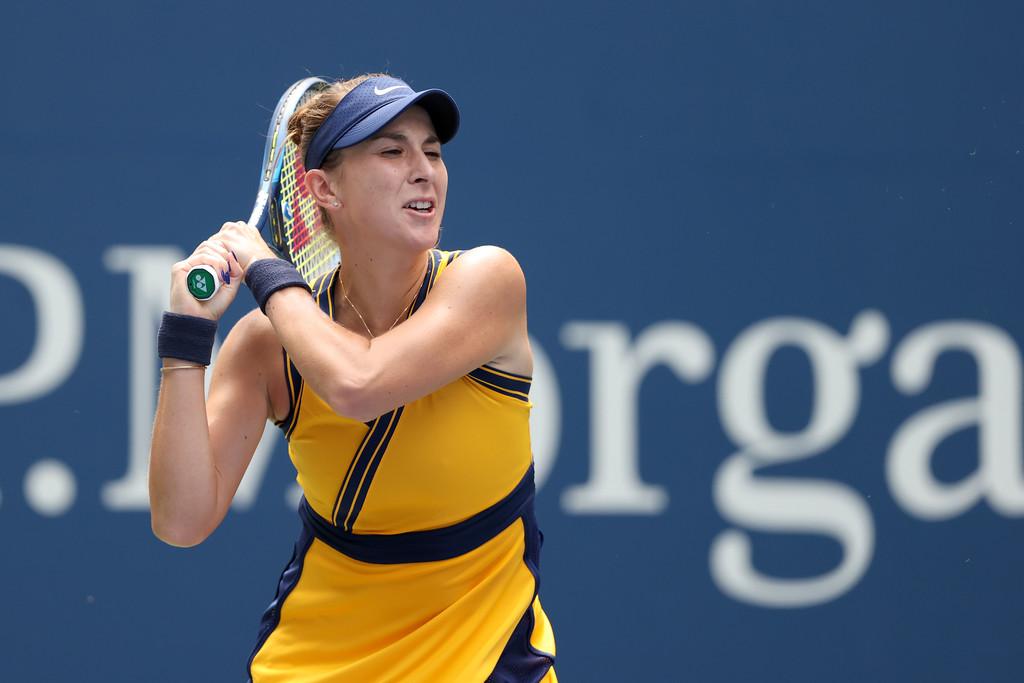 Belinda Bencic Martina Trevisan 2021 US Open - Bartyjeva in Benčičeva naprej na OP ZDA
