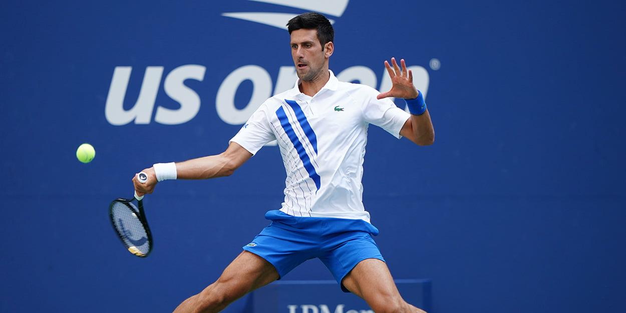 """Novak Djokovic forehand at US Open - Novak Đoković: """"V uvodu sem bil preveč pasiven"""""""