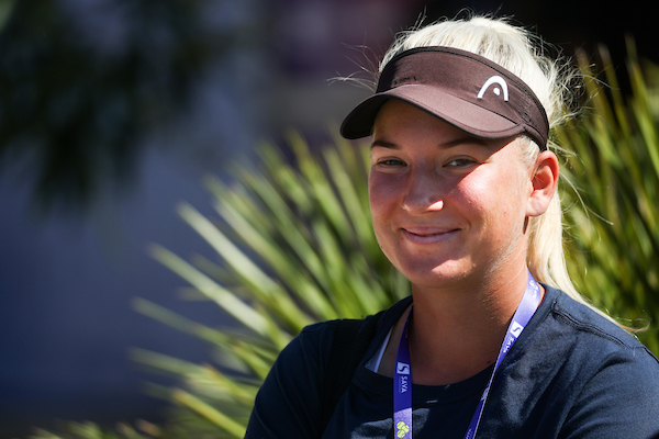 WTA Portoroz 002029 210912 VID - Nika Radišič namučila Kristino Mladenović