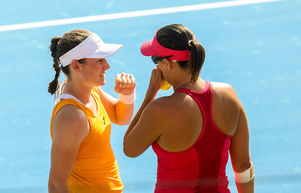 WTA Portoroz 008482 210913 VID - WTA Zavarovalnica Sava Portorož: Danes dve slovenski zmagi