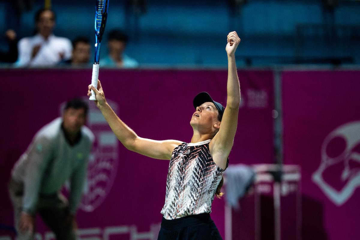 WTA Portoroz 1148 210917 MKV - Juvanova po zmagi nad Zidanškovo v polfinalu WTA turnirja v Portorožu