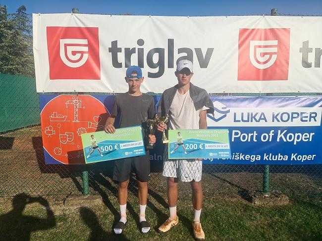 U16 - U16: Ana Tara Praček in Carlo Angeli zmagovalca Mastersa v Kopru